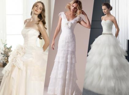 Suknie ślubne 2015 z falbanami