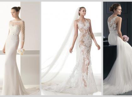 Suknie ślubne 2015 z transparentnymi wstawkami