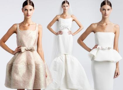 Suknie ślubne projektu Lanvin. Piękne i drogie.