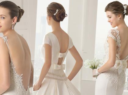 Suknie ślubne z odkrytymi plecami 2015