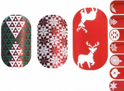 Świąteczna kolekcja Minx Nails - naklejki na paznokcie
