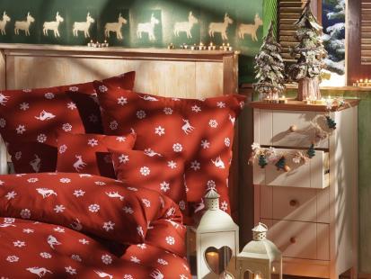Świąteczne akcenty w sypialni