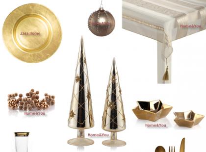 Świąteczny stół w złocie