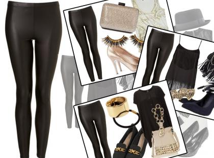Sylwester 2013: 5 stylizacji z czarnymi legginsami