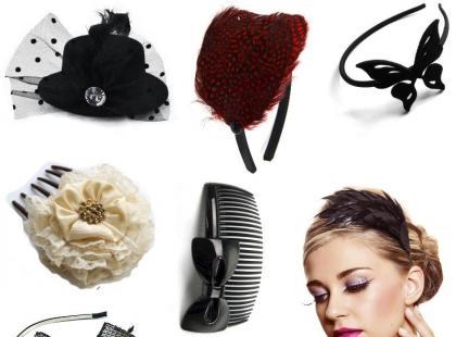 Sylwestrowo-karnawałowe ozdoby do włosów - galeria