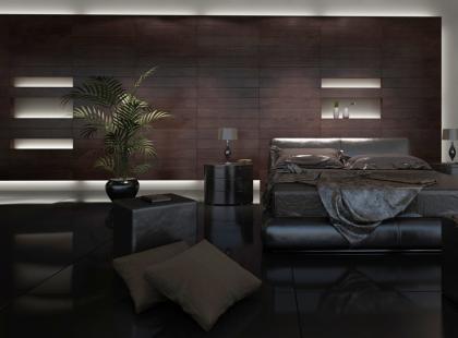 Sypialnia na czarno