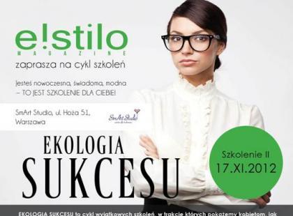 Szkolenie Ekologia sukcesu – 17 listopad 2012 roku