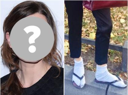 Szok! Która aktorka założyła skarpetki do... japonek?
