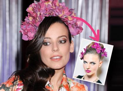 Szybkie i proste fryzury z kwiatami na ślub lub wesele