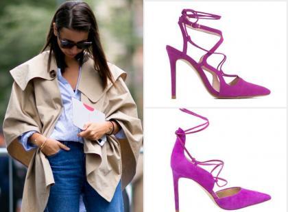 Tańsza alternatywa: różowe sandały na obcasie Sam Edelman vs. Zara