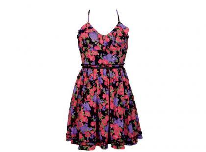 Tańszy zestaw z sukienką w kwiaty