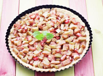 Tarta z rabarbarem i serem