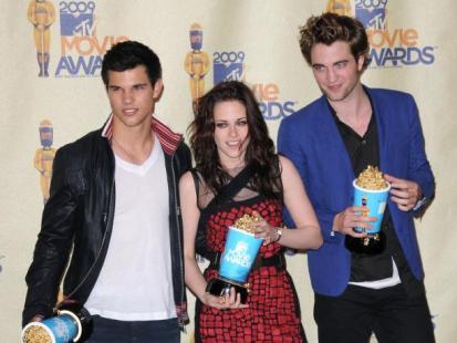 Taylor Lautner, Kristen Stewart i Robert Pattinson - Nowi królowie Hollywood