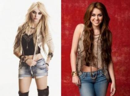 Taylor Momsen i Miley Cyrus na wojennej ścieżce