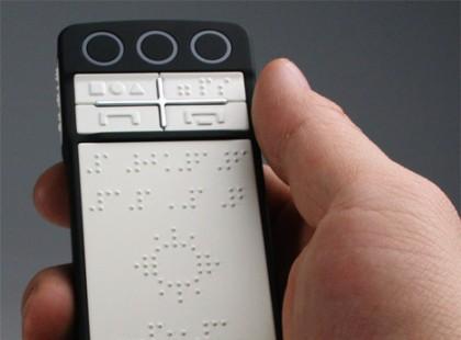 Telefon z Braillem dla niewidomych