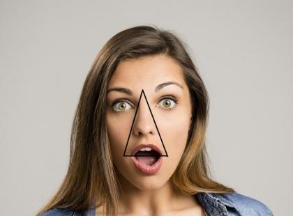 Ten obszar twarzy to trójkąt śmierci. Wyciskanie pryszczy w tym miejscu grozi niebezpiecznymi powikłaniami!