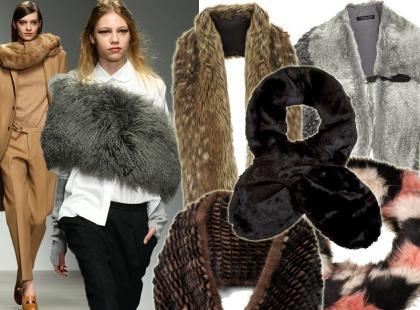 To jest hit! Futrzane szaliki na zimę 2015