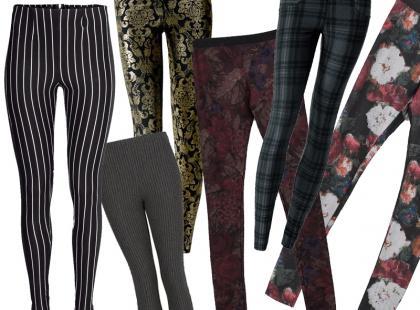 To jest hit: wzorzyste legginsy na jesień