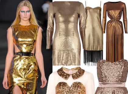 To jest hit: złote sukienki