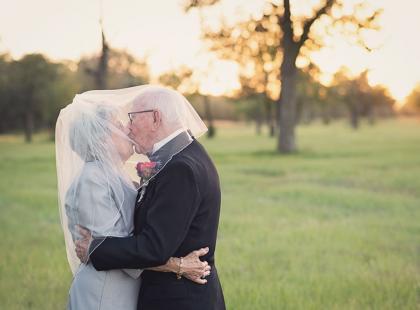 To najbardziej urocze zdjęcia, jakie dziś zobaczysz! Staruszkowie zrobili sobie ślubną sesję... na 70 rocznicę małżeństwa!