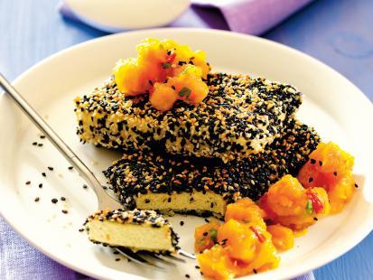 Tofu z chutneyem i dynią