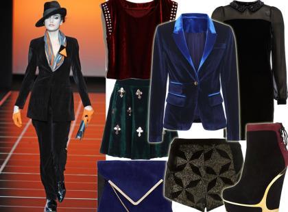Top 10: ubrania i dodatki z aksamitu