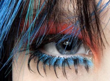 Trendy makijaż - W kolorze blue