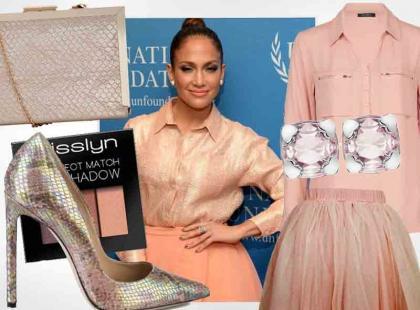 Trudny kolor do wystylizowania? Nie dla Jennifer Lopez