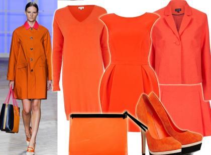 Ubrania i dodatki w kolorze soczystej pomarańczy
