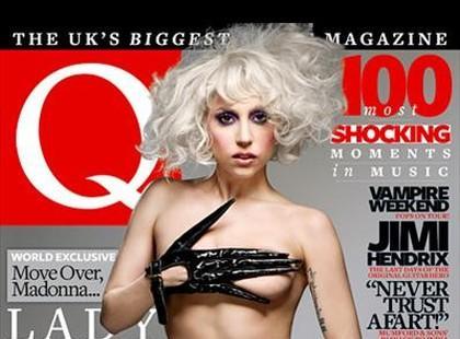 """Uhlala... półnaga Lady GaGa na okładce """"Q Magazine"""""""