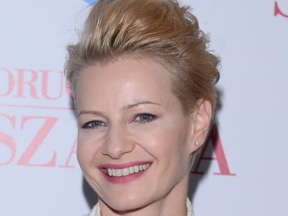 Uśmiechnięta Małgorzata Kożuchowska promuje serial. Pokazała świetną sylwetkę