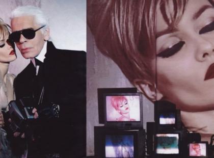 Vanessa  Paradis i Karl Lagerfeld w stylizacji dla Madame Figaro