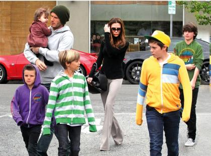 Victoria i David Beckhamowie - Czas na relaks
