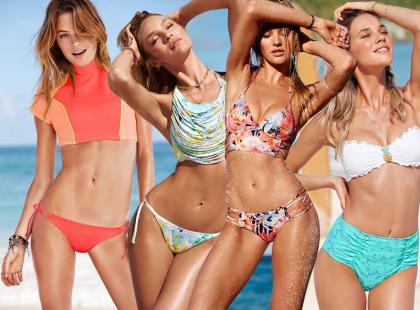 Victoria`s Secret na plaży: romantyczne retro i szykowny sport