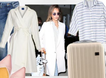 Wakacyjny look, czyli stylowa Jessica Alba w podróży