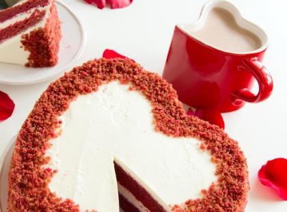 Walentynkowe desery w kształcie serca