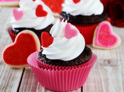 Walentynkowe muffinki z serduszkami