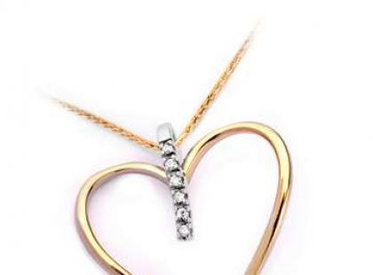 Walentynkowe złote serduszka YES