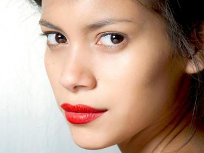 Walentynkowy makijaż ust