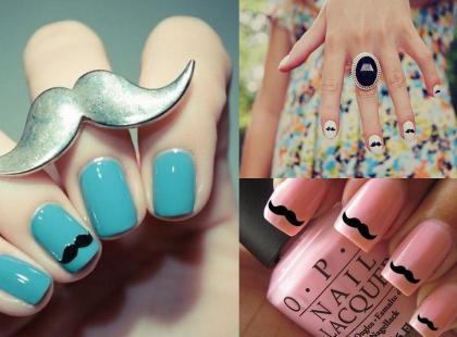 Wąsy na paznokciach!