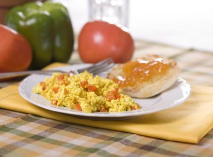 Wegańska jajecznica bez jajek