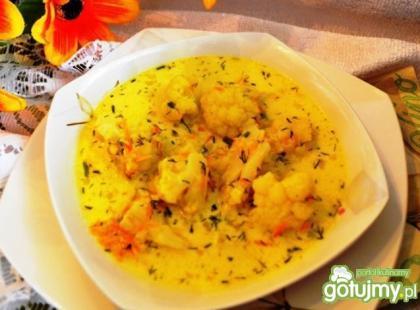 Wegetariańska zupa kalafiorowa