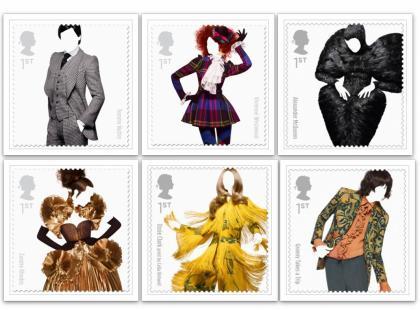 Westwood, McQueen i inni na znaczkach