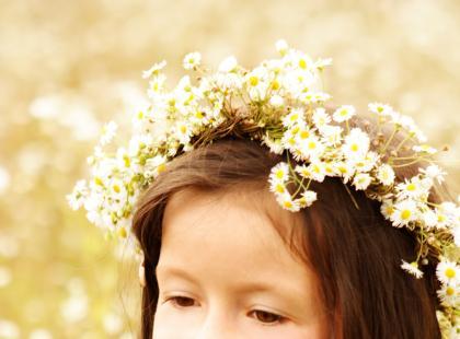 Wianek z prawdziwych kwiatów