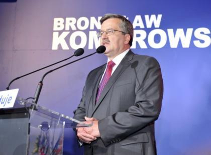 Wieczór wyborczy Bronislawa Komorowskiego