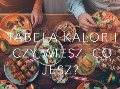 Wielka tabela kalorii: sprawdź wartość odżywczą produktów od A do Z!