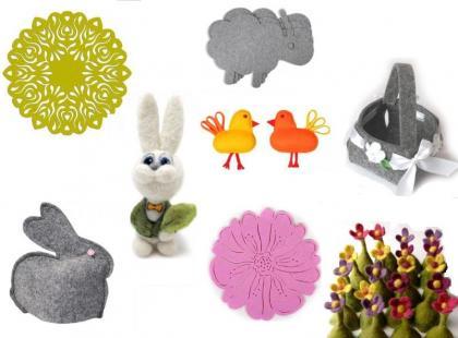 Wielkanocne dekoracje z filcu