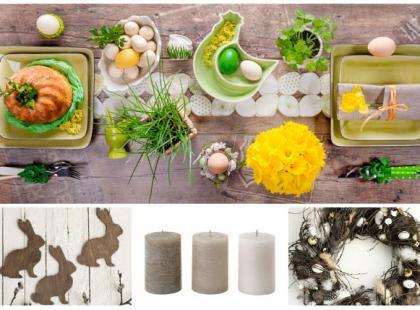Wielkanocny stół w naturalnym stylu