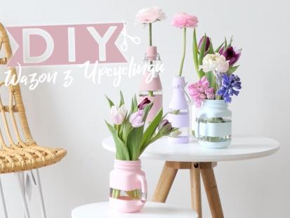 Wiosenny wazon ze starych butelek? Zobacz, jak go zrobić!