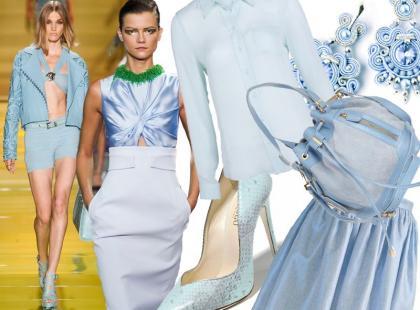 Wiosna w romantycznym błękicie: 30 ubrań i dodatków